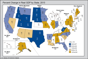 US GDP by State 2013